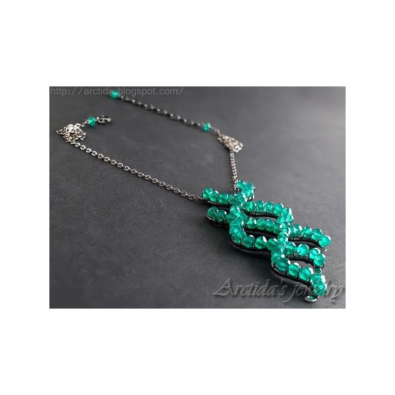 Science Jewelry Cyanobacteria Necklace Blue Green Algae