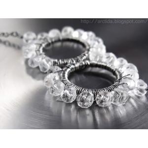 Science jewelry Streptococcus pneumoniae bacteria necklace