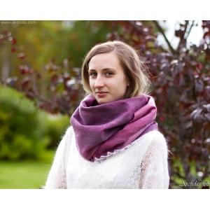 Mens scarf Merino wool scarf for men Black and white felt scarf