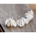 Keshi pearl necklace sterling silver Bridal necklace - Leia