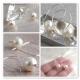 Pärlörhängen Argentium sterling silver vita pärlor - Anna