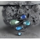 Labradorite necklace oxidized sterling silver - Asha