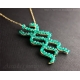 Science jewelry Cyanobacteria necklace blue green algae bacteria