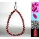 Rabies virus inspirerad halsband Granat sterling silver hänge