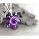 Amethyst necklace sterling silver purple gemstone flower