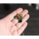 Grön halsband smaragd gröna stenar 14K gold filled - Fiona