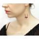 Peridot Ametist örhängen sterling silver örhängen - Domani