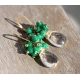 Golden Rutilated Quartz Emerald earrings gold filled - Alanna