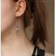 Labradorite earrings oxidized sterling silver - Asteria