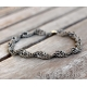 Chainmaille mens bracelet oxidized sterling silver - Chronos