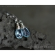 Blue Topaz earrings wire wrapped sterling silver - Nimue