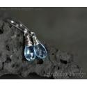 Blå Topas örhängen sterling silver Topasörhängen - Nimue