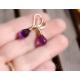 Purple Amethyst earrings wire wrapped 14K Gold filled - Anya