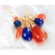 Blue necklace Turquoise mint blue gemstones gold filled - Maera