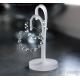 Gemstone hoops Rock Crystal Clear Quartz hoop earrings - Electra