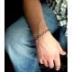 Herr armband oxiderat sterling silver armband för män - Hermes
