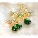 Green necklace emerald green gemstone sterling silver - Harmonia