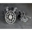 Silverhalsband Bergkristall finsilver hänge Cubic zircon