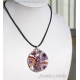 Mosaic necklace – Fluorite Garnet Moonstone Pearls Pink Amethyst and Tanzanite necklace in sterling silver.
