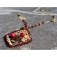 Citrine Garnet Ruby artisan necklace in 14K gold filled - Darlene