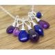 Amethyst Lapis lazuli silver necklace - Irina