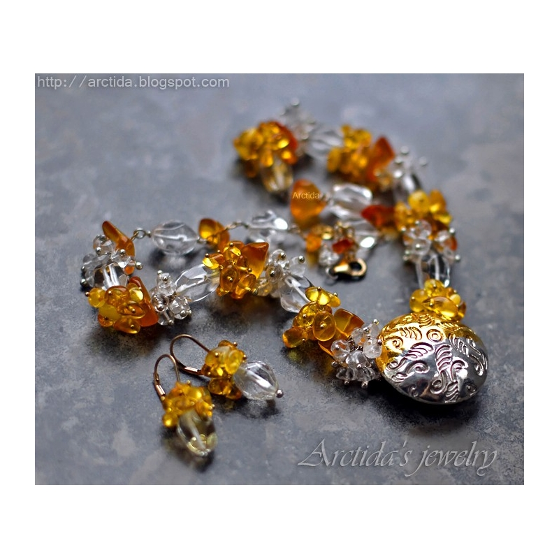 c4c6fc5d708fe Ice and Fire - Amber Rock Crystal Clear...