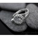 Bergkristall Argentium sterling silver öppen ring – Elsie