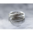 Twig ring Branch ring Tree Bark textured band sterling silver - Karya