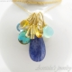 Blue Topaz Kyanite Mint Chalcedony Turquoise Citrines gold filled - Olga