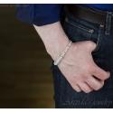 Kejsarlänk Kungalänk chainmaille herr armband sterling silver