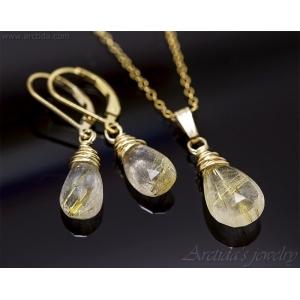 Rutilkvarts halsband 14K Gold filled guldhalsband - Elina