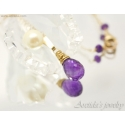Amethyst necklace in 14K Gold filled - Anya