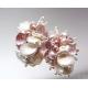 Rosa pärlörhängen sötvattenspärlor örhängen