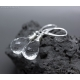 Rock Crystal Clear Quartz earrings sterling silver - Elsa