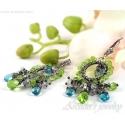 Apatite Peridot earrings sterling silver - Ituralde