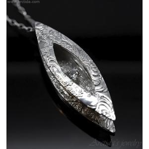 Silverhalsband finsilver hänge cubic zirconia - Khione