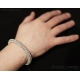 Mens bracelet Roundmaille chainmaille bracelet sterling silver