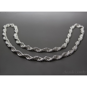Mens necklace Spiral chainmaille necklace sterling silver