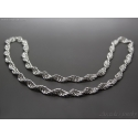 Spiral silverhalsband Chainmaille halsband sterling silver