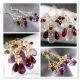 Chandelier earrings Peridot Amethyst silver earrings - Domani