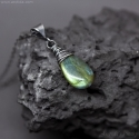 Labradorite necklace oxidized sterling silver - Alina