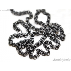 Mens necklace Oxidized sterling silver necklace for men Silver chain Mens jewelry