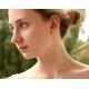 Golden Rutilated Quartz earrings 14K solid gold - Venus Hair