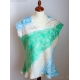 Nuno Felted Top Merino wool and Silk top in Sky Blue and Mint green Wearable Art clothing