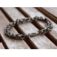 Chainmaille herr armband oxiderat sterling silver - Adonis