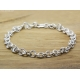 Chainmaille mens bracelet oxidized sterling silver - Adonis