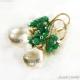 Rutilkvarts Smaragd örhängen 14K Gold filled - Alanna