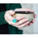 Mint druzy ring Sterling silver and mint green druzy Quartz ring - Lindelle