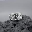 Keltisk ring Argentium sterling silver ring