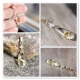 Golden Rutilated Quartz necklace 14K solid gold - Venus Hair